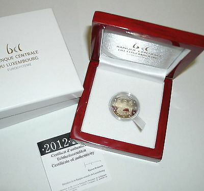 2 Euros Be/pp/proof 2012 Luxembourg Mariage Grand Duc Rare