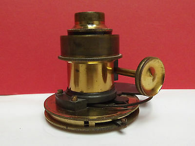 MICROSCOPE [ SUBSTAGE ] Focussing [ c1860 ] Rotating Stops {Iris Diaphragm} 39mm