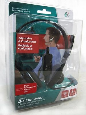 Logitech Wired ClearChat Stereo Headset w/BOOM Microphone & Control--NEW SEAL