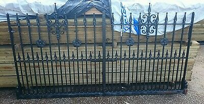 Reclaim Gothic wrought iron style driveway gates  Galvanised Steel Powder coated