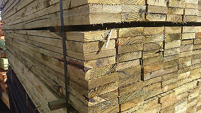 """4""""inch x 1""""inch Timber Fence Panel Boards Tanalised Treated Pickets 8'Ft-2.4m"""