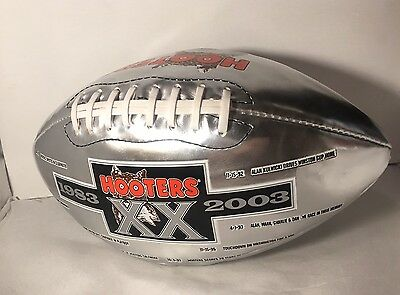 Hooters Collectible 20th Anniversary Football, 2003 Silver Hooters Football