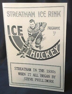 Streatham Ice Hockey Booklet - Signed by Author