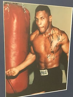 Mike Tyson authentic autograph framed picture