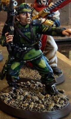 Painted 54mm GW 40k Inquisitor Imperial Guard sharpshooter model