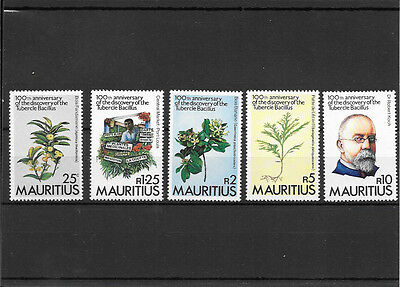 Mauritius Umm Set Of Stamps Discovery Of Tubercle Bacillus K158