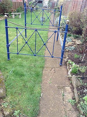 """Victorian Iron and Brass  Bedstead 4'x 6"""""""