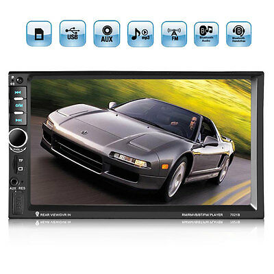 4 X 60W 7Inch Touch LCD 2DIN Bluetooth MP5 Video Player Remote SD USB FM AUX IN