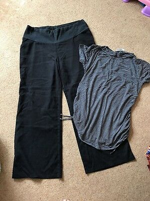 Maternity Size 18 - Black Trouser And Top. Jo Jo Mama mean