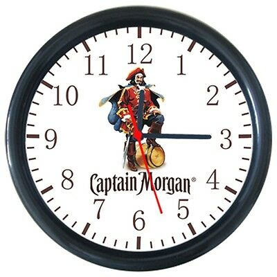 New Cool Beverage Beer Bottle Drinks Captain Morgan Logo Sign Round Wall Clock