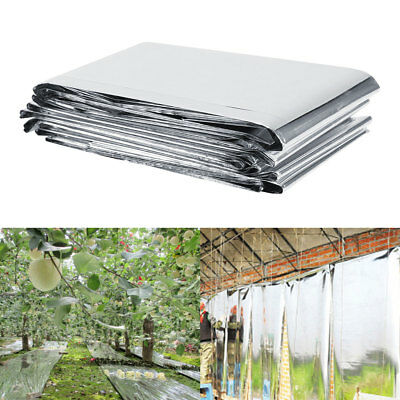 82 x 47 Inch Silver Plant Reflective Film Grow Light Accessories Greenhouse JS