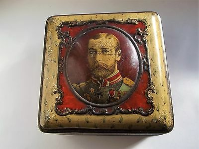 King George V - WW1 Cadbury Bournville Chocolate Tin Issued to Wounded Troops
