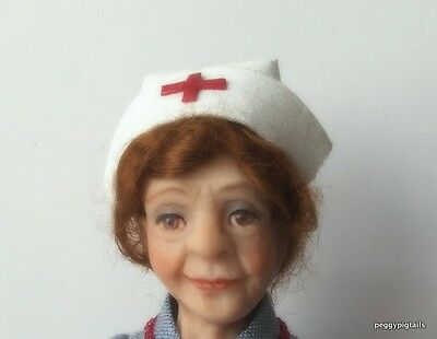 Ooak  12Th Scale  Miniature Dollhouse Nurse Character Doll