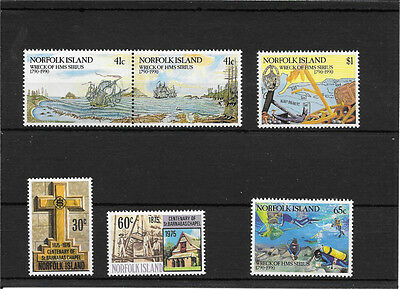 Norfolk Island Sets Of  Pristine Umm  Stamps C659