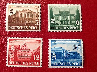 Germany Third Reich 1941 Leipzig fair Complete set of four MNH