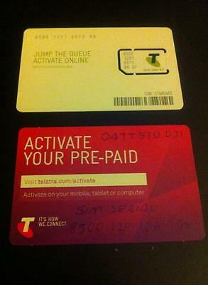 Telstra Pre-Paid $10 Call / Text Sim Card  .....BRAND NEW / NEVER USED - LOADED