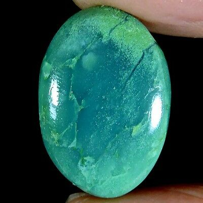 18.45cts 100% NATURAL ROYAL GREEN BIO CHRYSOPRASE OVAL CABOCHON PURE GEMSTONE