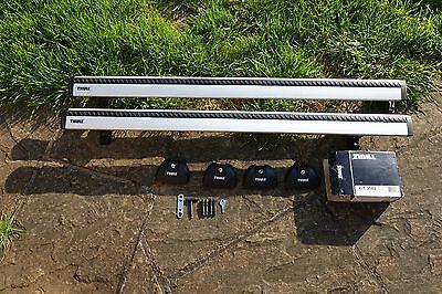 Thule Roof Bars Rack Wingbars 961 With Feet 3083 For Mercedes C & E Class