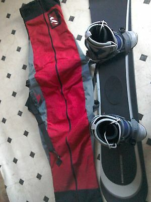 snowboard boots and bag