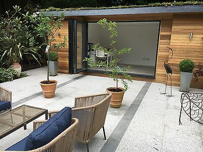 Silver Grey Granite Paving Slabs - Sawn Garden Paving Mix Size Patio Slabs