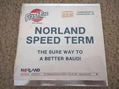 Norland Speed Term (Modem Overclocking) for Commodore 64/128, NEW FACTORY SEALED