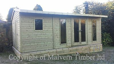 """20ft x10ft 19mm Tanalised """"DULUXE"""" Studio and shed combination ,Garden room"""