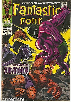 FANTASTIC FOUR #68  Silver Age Marvel Comics 1967 FN + Cents