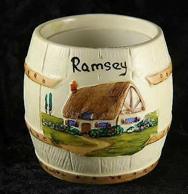 "Manor wear preserve pot in shape of barrel ""Ramsey"" plus liner"
