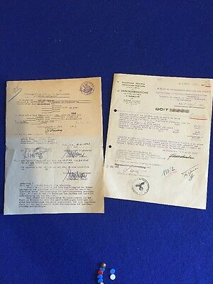 Original Ww2 German Documents Signed And Dated 1942