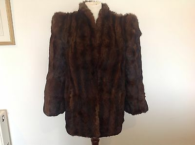 Vintage real fur jacket 1940,s brown Musquash ? Mink ?