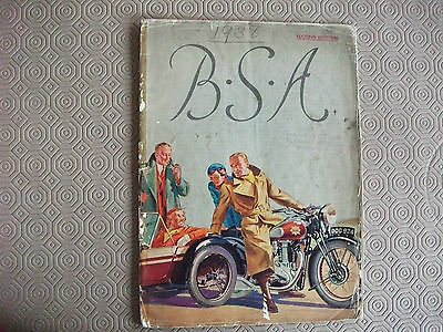 BSA 1938 original Sales Catalogue,Artwork cover, Gold Star + full range, 20 page