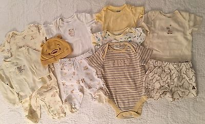 Lot 11 Boy Girl Unisex Yellow First Impressions Baby Gap Pooh Old Navy 0-3 Mos