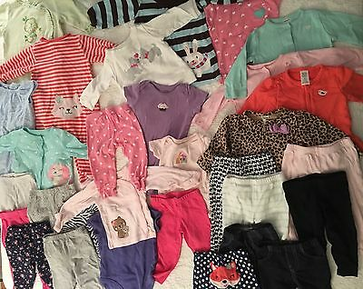 Lot of 30 pieces Carter's baby girl Pants Tops Mix 6 Months (6M) clothes Carters