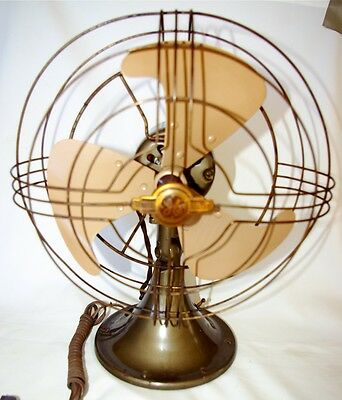 General Electric Oscillating Fan 1930's Art Deco Vortalex blade, 10 inch-2 SPEED
