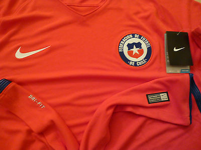 Authentic Chile 2016 Copa America Home Red Football Shirt Soccer Jersey Nike $90