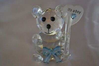 Cute Baby Boy OR Baby Girl Glass Teddy Bear Keepsakes