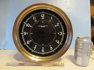 "Antique Nautical Chelsea 10 1/2"" Ships Clock Case & Dial For Parts Or Rebuilding"