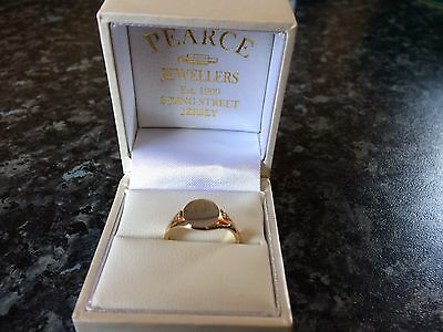 9ct Gold Signet Ring, Size N, In Original Box