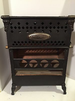 Antique Queen Bee Stove Heater Fireplace Metal Copper Decor Rustic