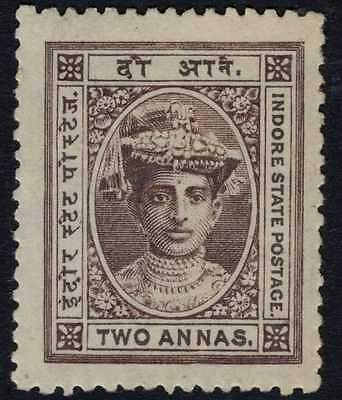 India Feud Indore 1904-20 SG12 2a Brown MM CV£17