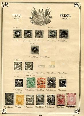1866+ Peru,Lot Collection Used/Mint Stamps,See Five Scans by Description