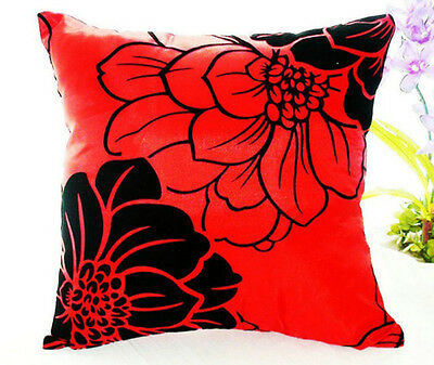 Home Sofa Bed Car Square Decorative Throw Pillow Case Cushion Cover (Red)  GOOD