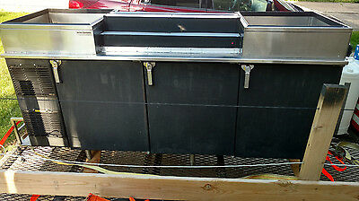 """GlasTender"" Back Bar Commercial Refrigerator with ice chest's & liquor display"