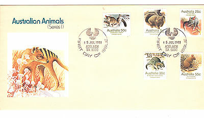 Australia 1981 and 1982 Australian Animals First Day Covers