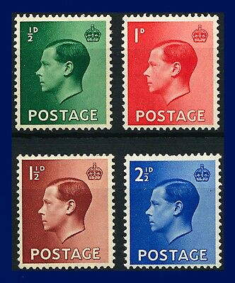 1936 SG457-460 ½d-2½d EVIII Definitives Set (4) Mounted Mint ajeg