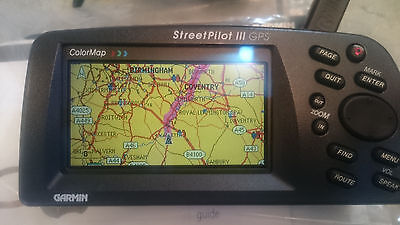 Garmin StreetPilot III Portable GPS Auto Routing And Voice System + accessories