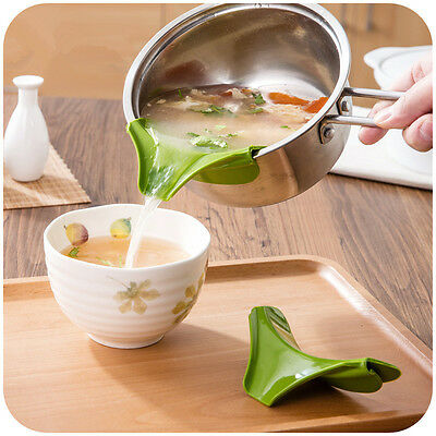 1PC Silicone Soup Funnel Kitchen Gadget Tools Water Deflector Cooking Tool US