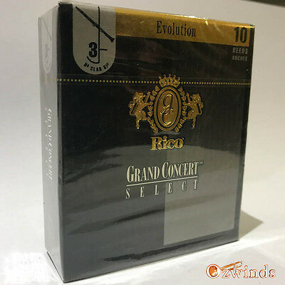 Grand Concert Select Evolution Bb Clarinet Reeds , Box of 10  Strength 3