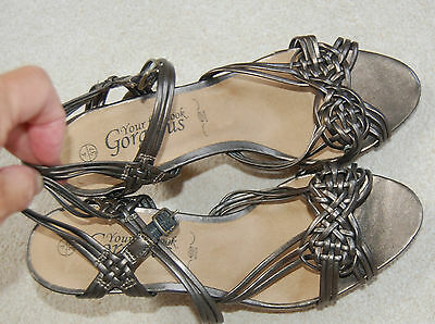 New Look Ladies Bronzed Sandals/ Shoes - Size 4(37) Ideal for Anytime NEW