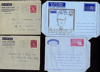 AIR MAIL LETTERS (x4) GREAT BRITAIN 1940s to 1960s